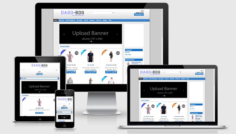 Download Template Toko Online Dago Theme