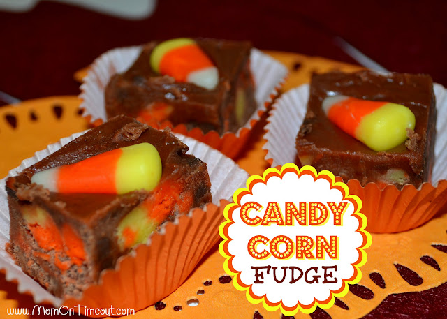 Candy Corn Fudge | MomOnTimeout.com #halloween #fudge #recipe