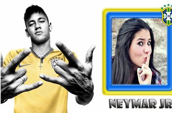 Coloque sua fotos junto do Neymar