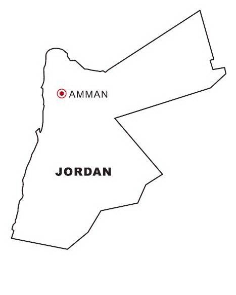 Mapa y Bandera de Jordania para dibujar pintar colorear Imprimir ...