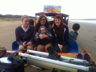 family on Mablethorpe Sand-Train