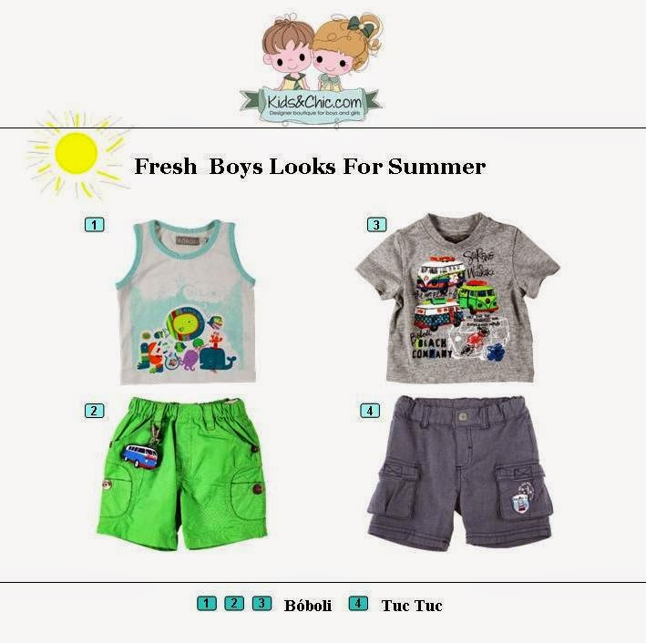 Summer look for boys from Boboli and Tuc Tuc