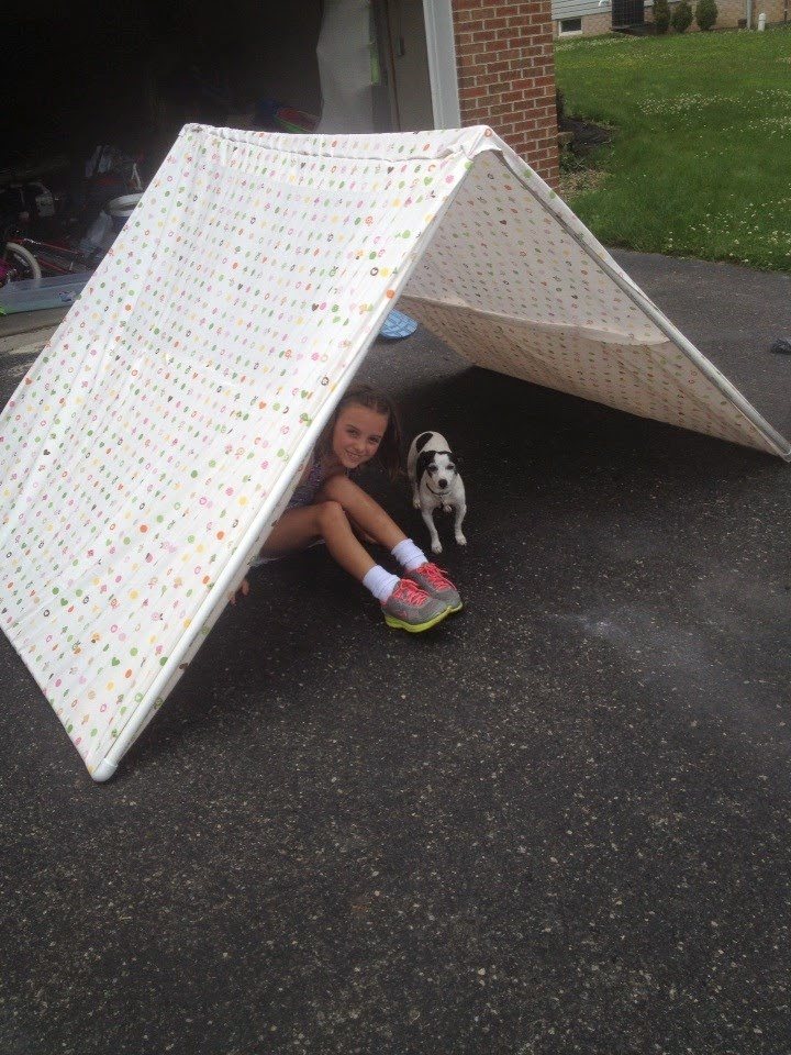 Pvc pipe tent for easy camping indoors macaroni kid