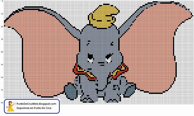 Dumbo punto de cruz