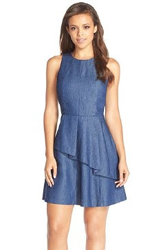 ruffle cotton fit & flare dress from Adelyn Rae