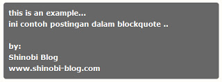 Cara Edit Blockquote dan kodenya | Turial Vicahya™