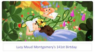 Google Doodle Hari Ini Peringati Ulang Tahun Lucy Maud Montgomery yang ke 141
