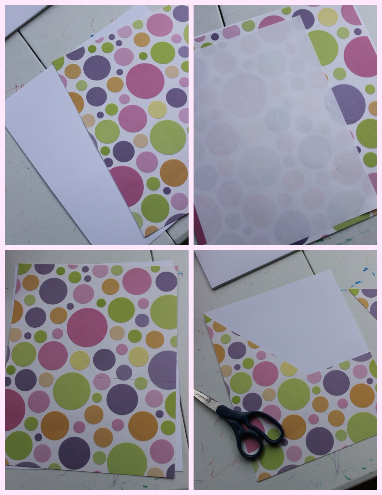 Start By Getting One Piece Of Plain Heavy Cardstock For Your Backing And Patterned The Front Folder Place A Standard Sized