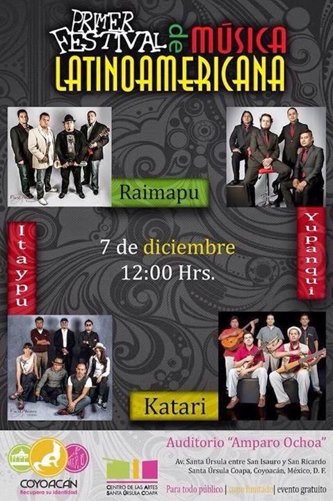PRIMER FESTIVAL DE MUSICA LATINOAMERICANA - CIUDAD DE MEXICO
