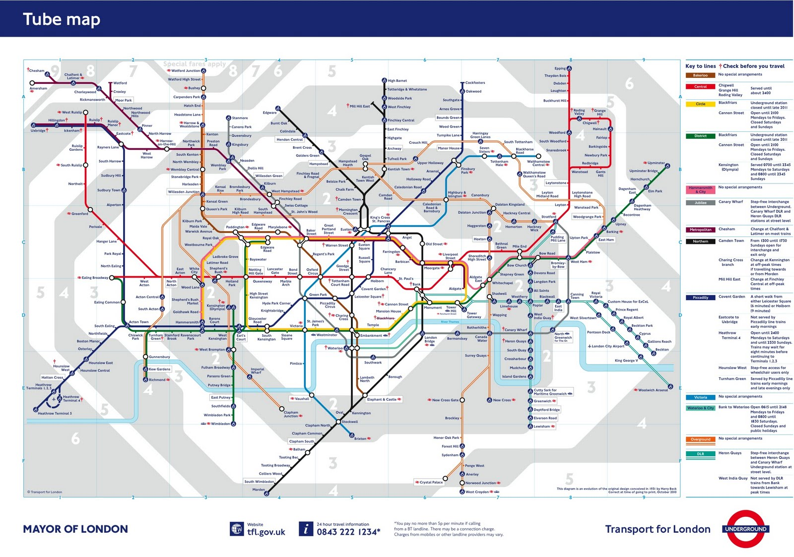 London Map Zone - London map of zones