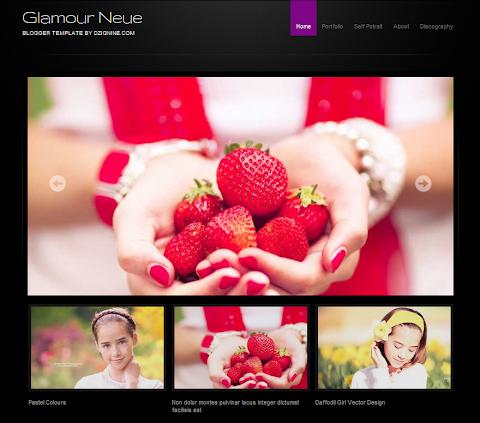 Glamour Neue Blogger Theme