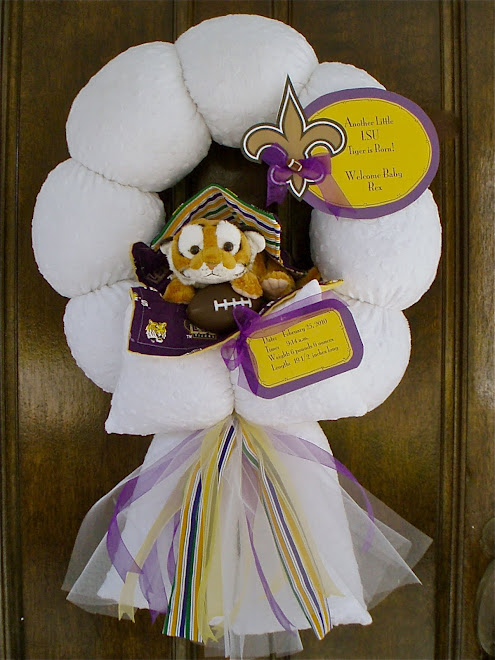 77. Custom Lsu baby wreath