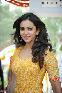 Actress Rakul Preet Singh Pictures in Salwar Kameez at Pandaga Chesko Movie Launch  20.jpg