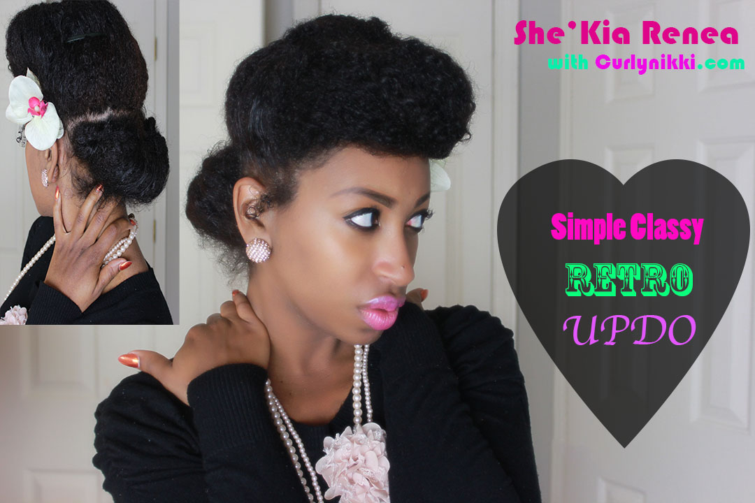 Classy retro updo natural hair styles curlynikki natural classy retro updo natural hair styles urmus Images