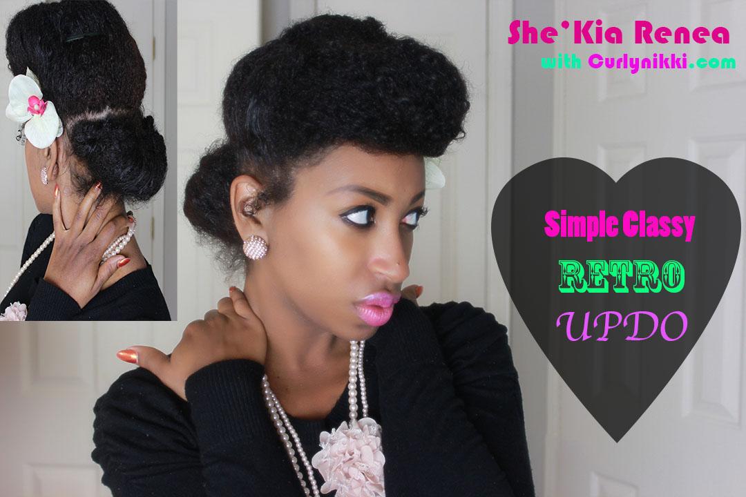 Classy Retro Updo Natural Hair Styles Curlynikki Natural Hair