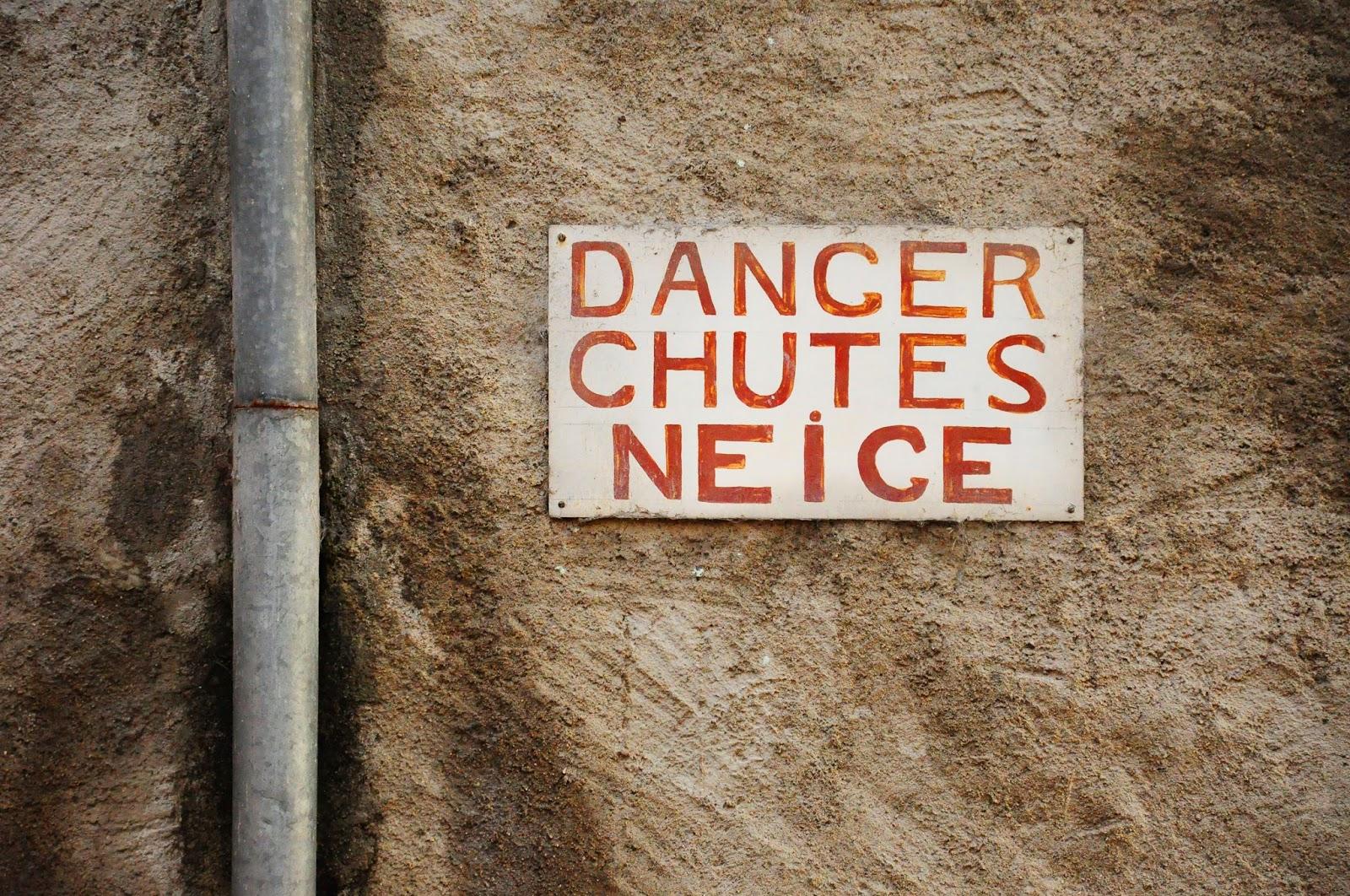 danger chutes neige