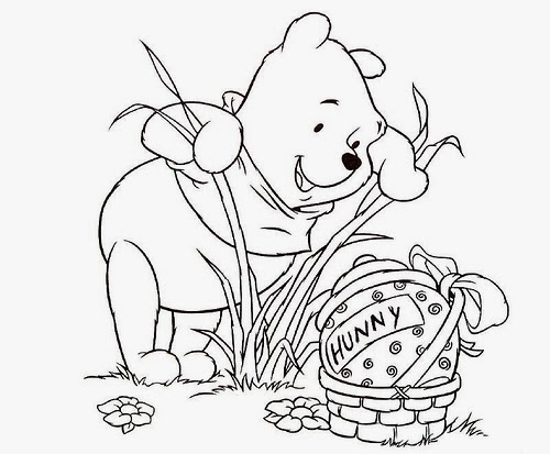 the pooh easter coloring pages - photo#17