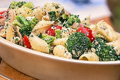 Pasta Salad with Broccoli, recipes courtesy of www.diabetichealthandwellness.com/