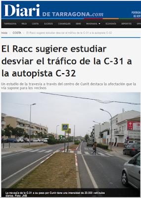http://www.diaridetarragona.com/costa/51637/el-racc-sugiere-estudiar-desviar-el-trafico-de-la-c-31-a-la-autopista-c-32