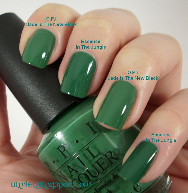 Did someone say nail polish?: Comparison: O.P.I. Jade Is The New ...