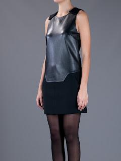 deri elbise modeli, kısa ve dar