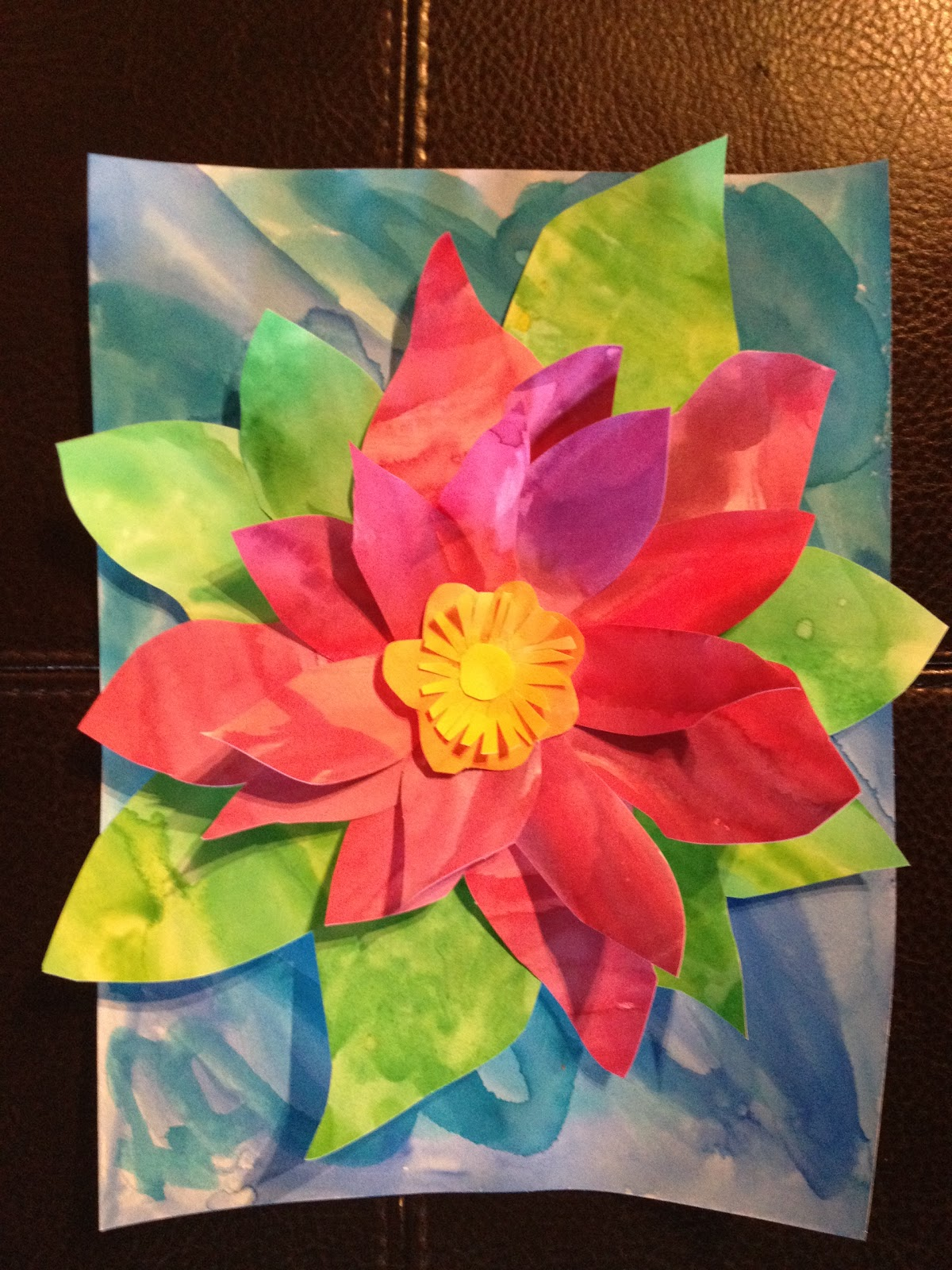 working 4 the classroom an art project because spring