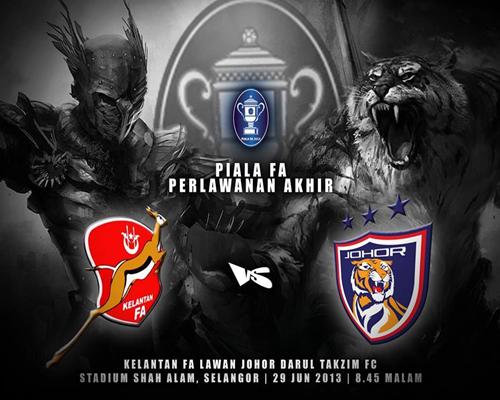 30,000 Tiket Final Piala FA untuk Kelantan dan Johor Darul Takzim