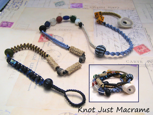Macrame wrap bracelet by Sherri Stokey of Knot Just Macrame