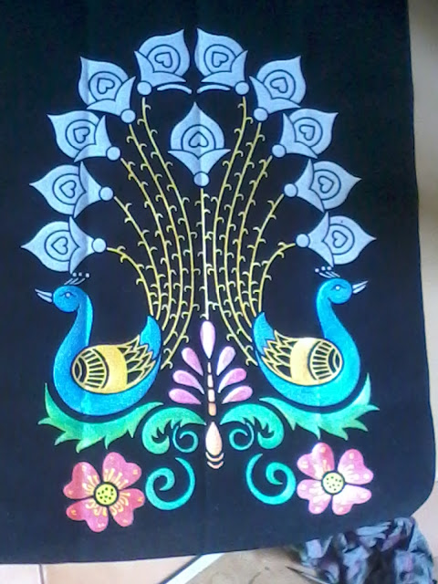 Peacock designs for glass painting - photo#15