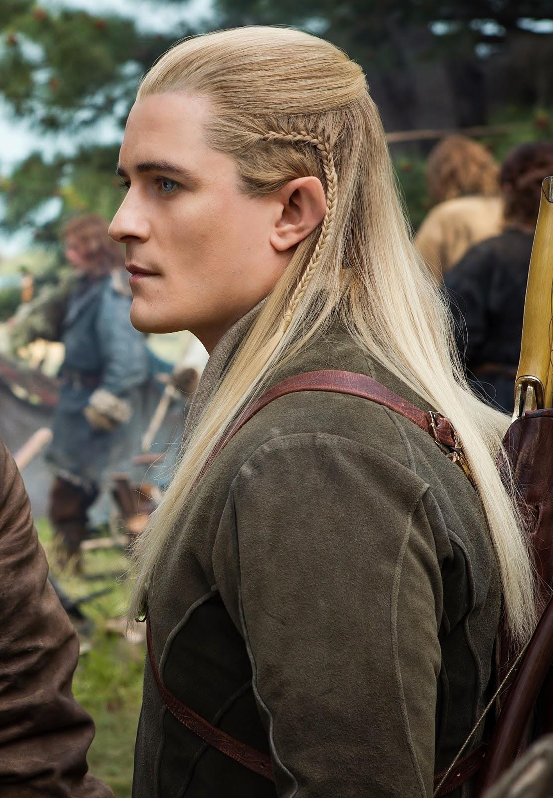 Braid hairstyle tutorial Legolas hair the hobbit - YouTube