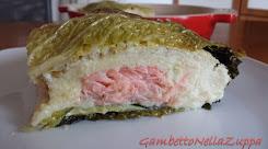 Terrina di porri e salmone in foglie di verza