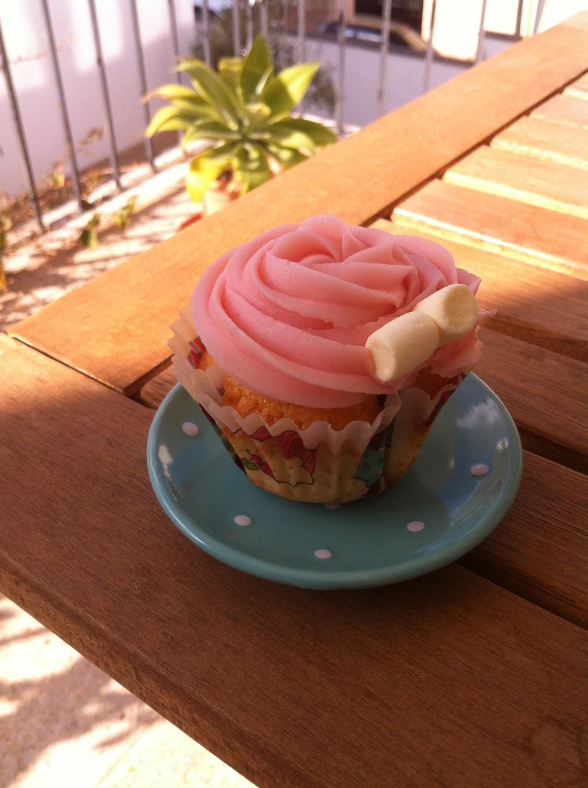 Cupcakes de Nesquik de Fresa