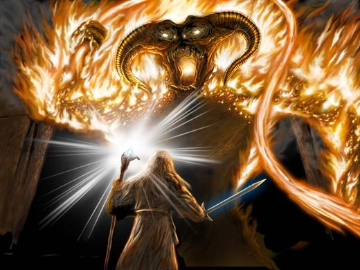 Gandalf vs the Balrog por kikassassassin