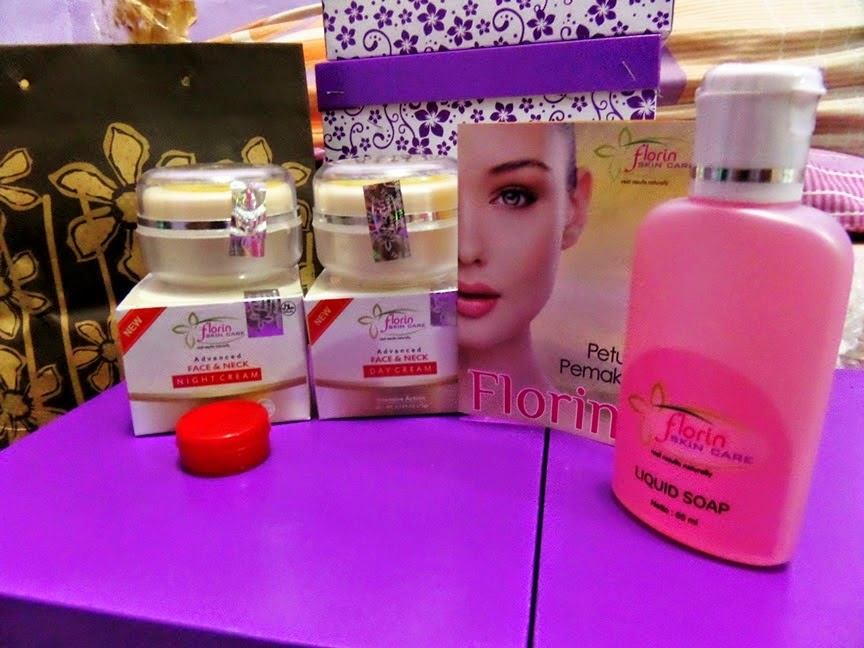 Cream Pemutih Wajah Florin Skin Care Paket Normal