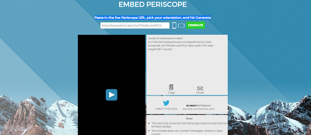 embed periscope