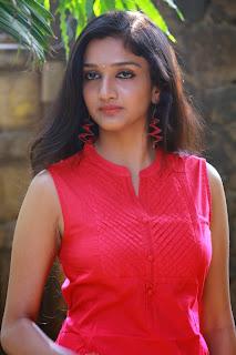 Swathika Very Cute New Actress in Pink Salwar at Aayirathil Iruvar Movire Press Meet