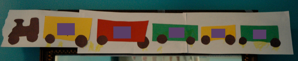 Weekly Home Preschool- Transportation Theme, Name Train Craft