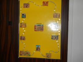 משחק מסלול בנושא ירושליים, משתמשים בתמונות של מקומות , קלפים עם שאלות