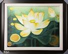 Tranh Lotus sơn màu Acrylique