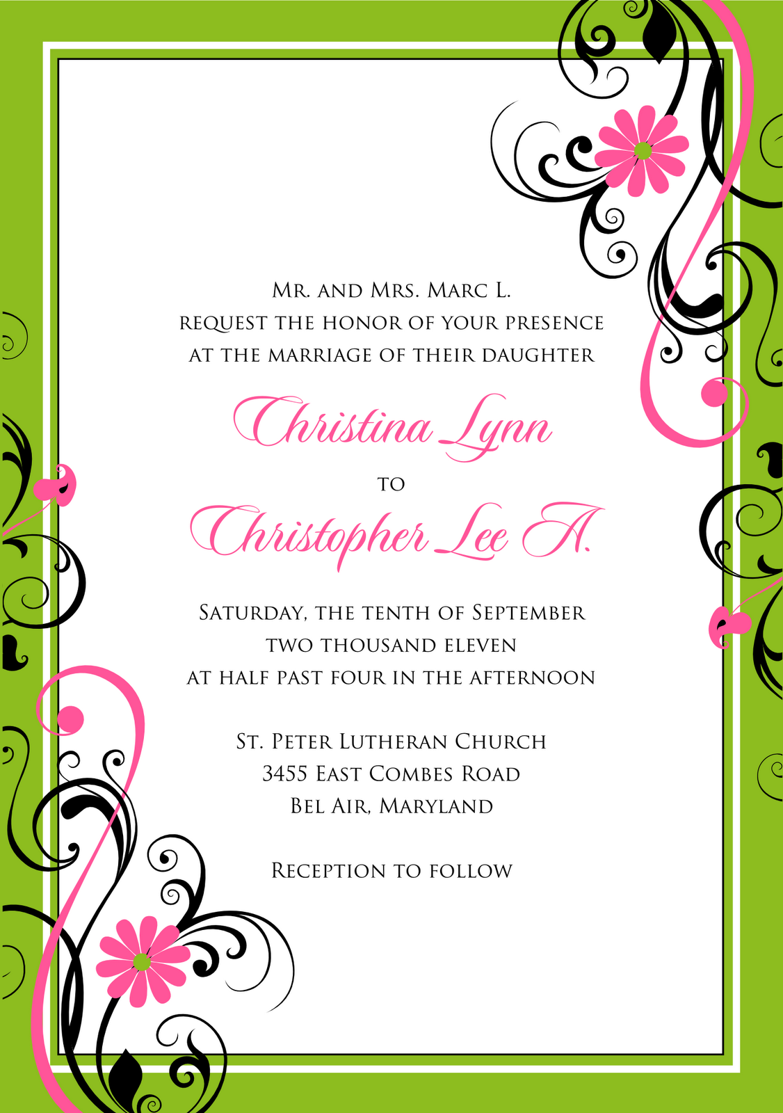 signatures by sarah  wedding stationery for christy