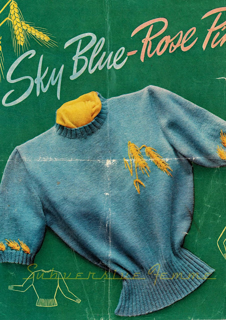 free knitting pattern 1950s large xl plus size novelty