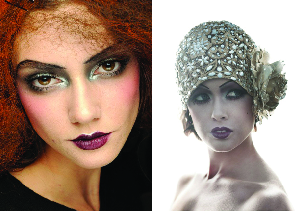 flapper inspired makeup, flapper beauty, 1920s makeup, avant garde makeup