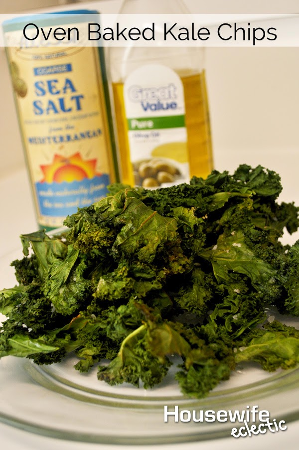 Oven Baked Kale Chips - Housewife Eclectic