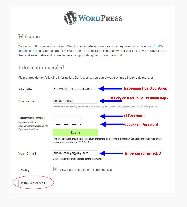 Cara Install WordPress.org Di Komputer Lokal