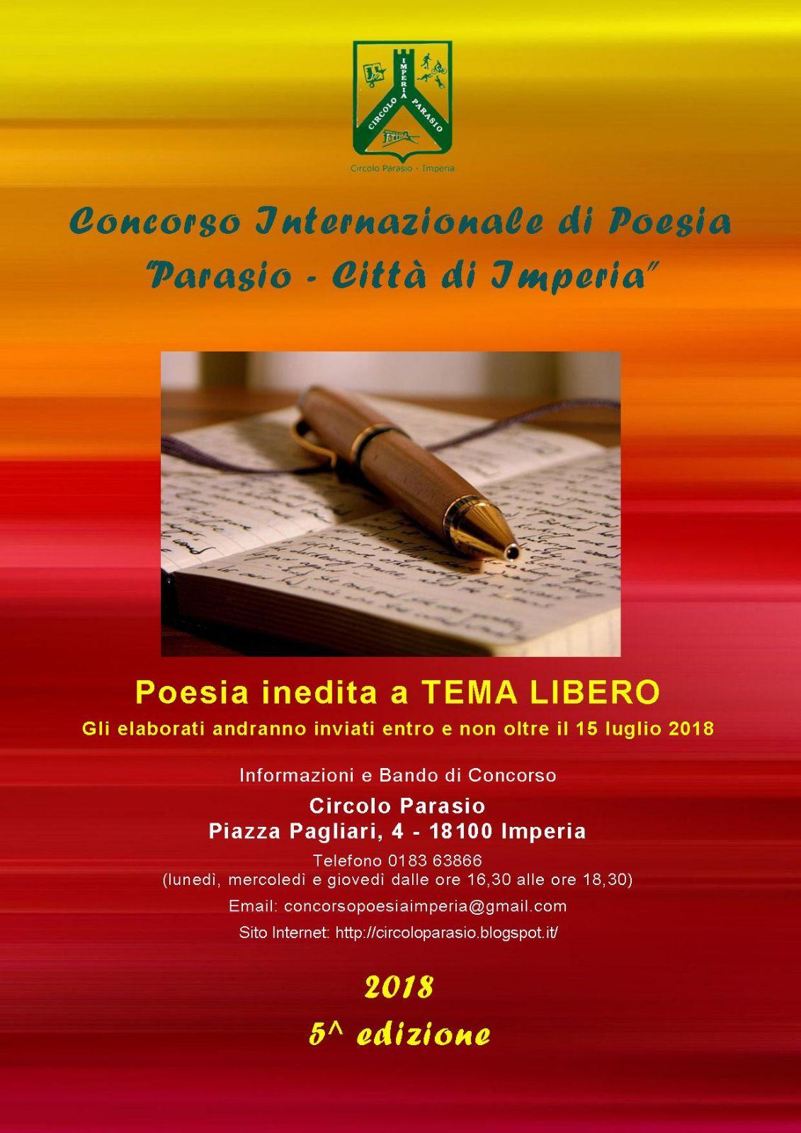 Concorso di poesia Internazionale