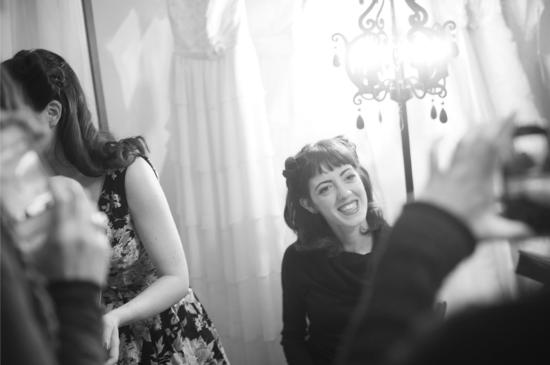 Vintage Tea Party, Nadia Manzato Wedding Couture, victory rolls