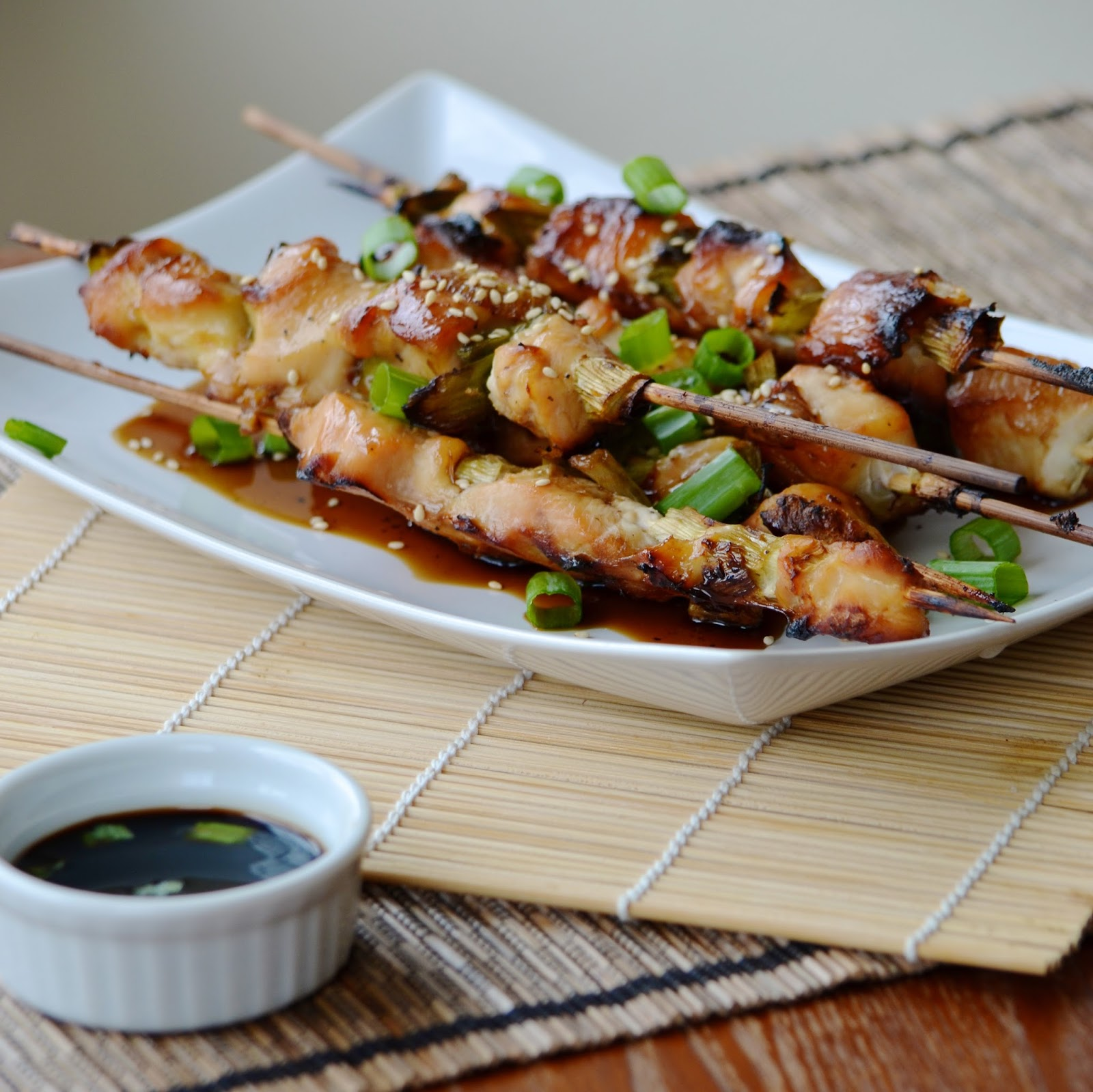Negima Yakitori Chicken and Scallion Skewers Japanese green onion kabob