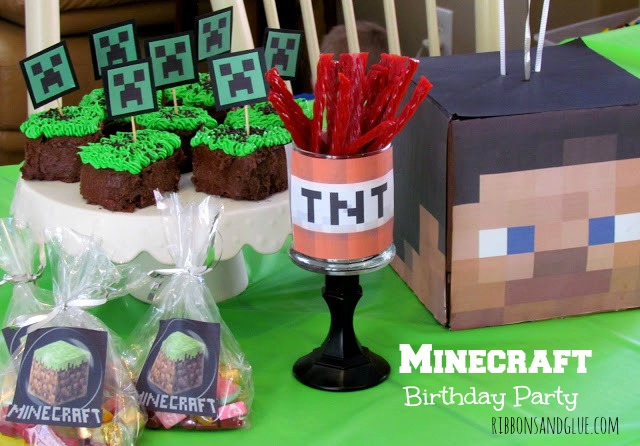 Ideas on how to throw a Minecraft party