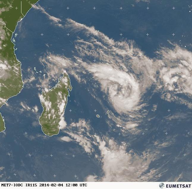 Image satellite de la dépression tropicale n°10 (saison 20132014)