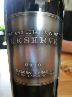 Vineland Reserve Cabernet Franc 2010 - VQA Niagara Escarpment, Niagara Peninsula, Ontario, Canada (90+ pts)